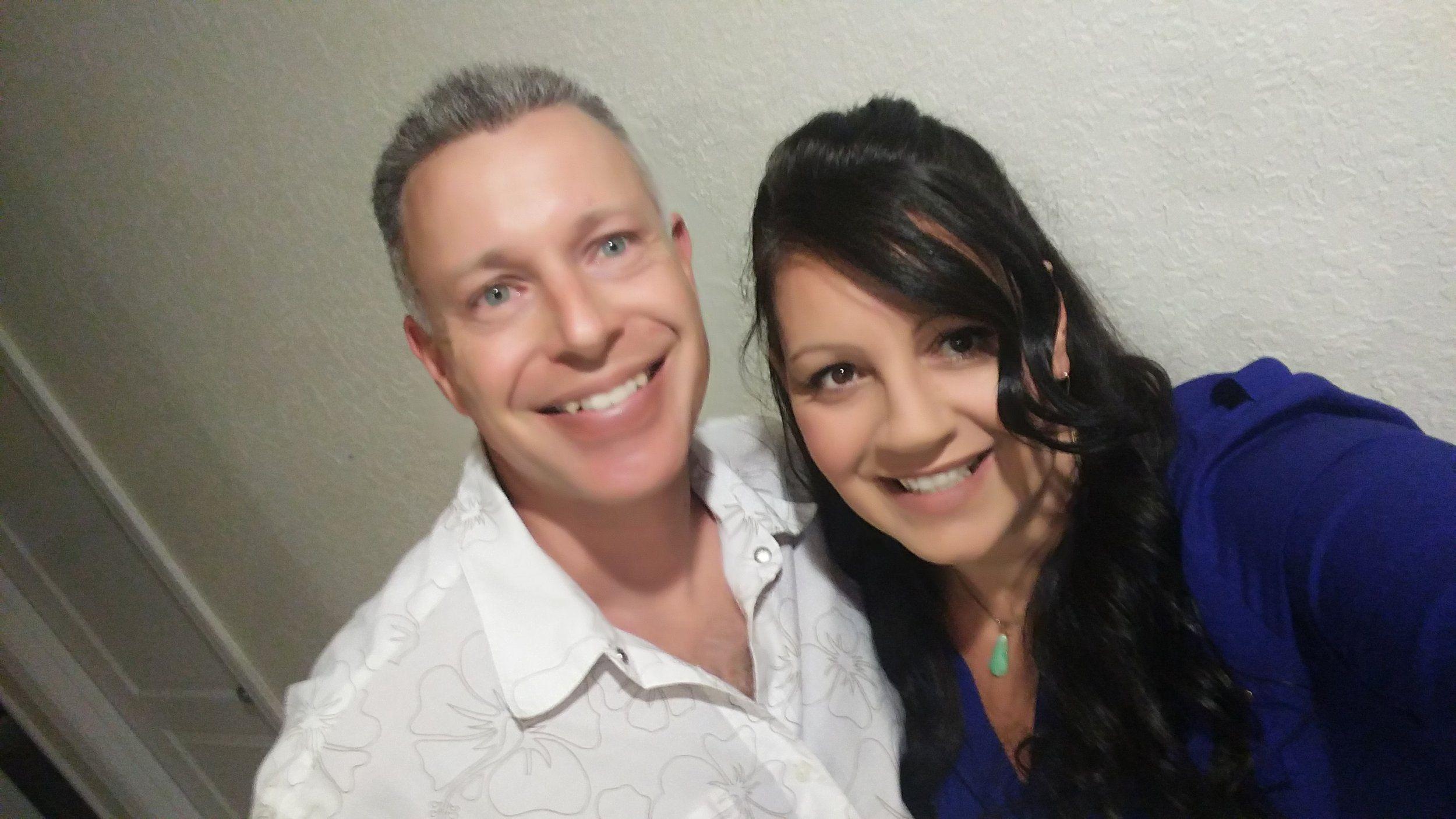 Наша героиня со своим мужем Роном