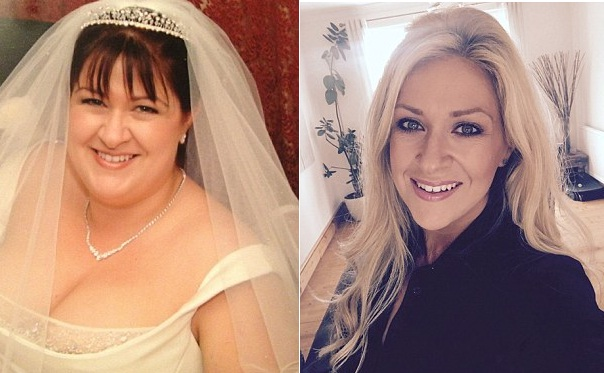 Джанет до и после похудения - словно два разных человека