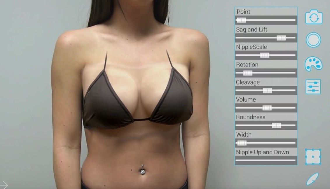 В США появилось приложение для виртуального увеличения груди